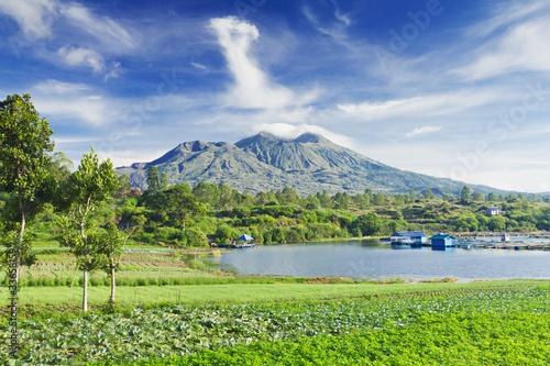 Leinwanddruck Bild Batur volcano