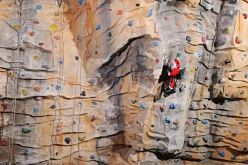 Santa Claus on rock wall