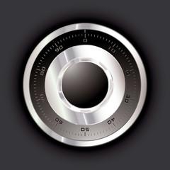 Safe dial dark