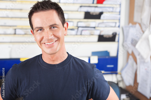 Happy Male Mechanic