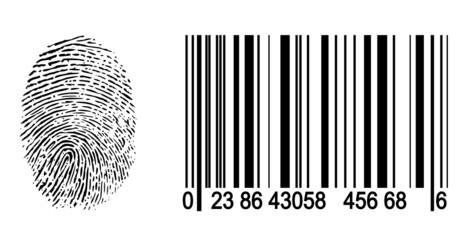 Fingerabdruck / Barcode