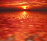 Fototapeta woda - morze - Zachód / Wschód Słońca