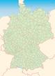 Deutschland Landkreise stumm 40cm x55cm in SVG