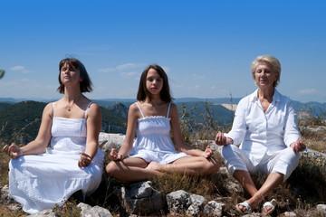 Génération de femme en train de méditer