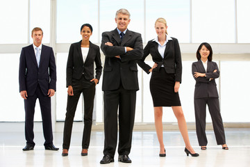 Confident business people