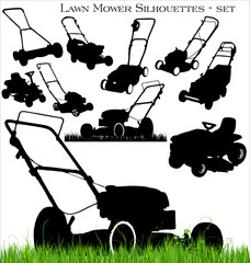 lawn mower set