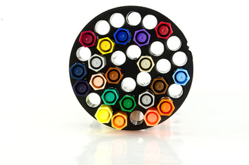 art Light multicolor on cycle