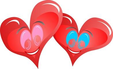 Cuori innamorati - Hearts in love