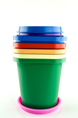 Paint bucket of colorful