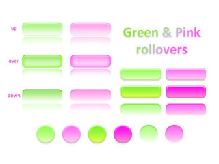 green and pink rollovers