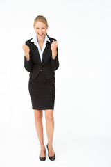 Portrait of business woman in suit