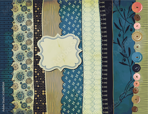 Gypsy Background with Pattern Scraps