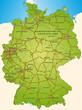 Deutschland mit BAB grün in SVG 40cmx55cm