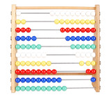 Abacus With Bright Colored Beads Set oout in symettrical pattern