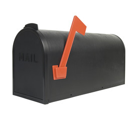Closed mail box with flag up