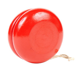 Red yo yo isolated on white background
