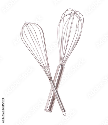 Whisk isolated on white background