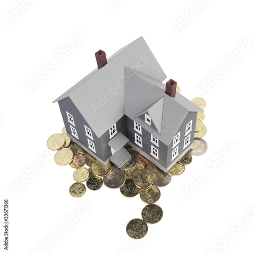 The house and euro coins
