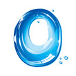 Water Liquid Letter - Capital O