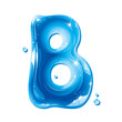 Water Liquid Letter - Capital B