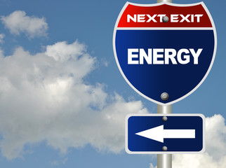Energy road sign
