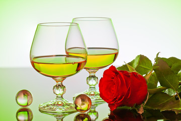 roses and glass