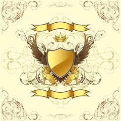 Retro golden emblem