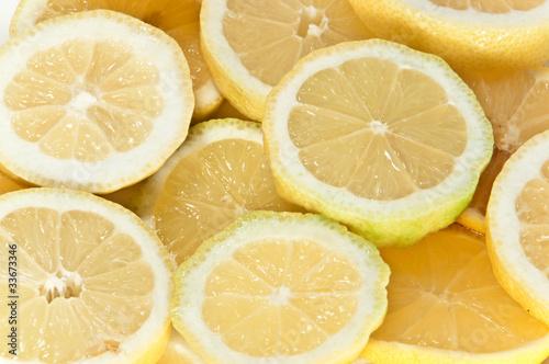 Zitronenscheiben - Makro