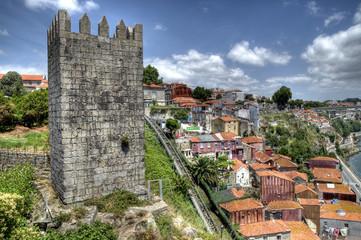 Dom Fernando Wall (Muralha Fernandina), Porto.