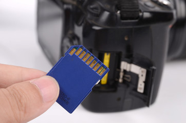 Flash card and camera