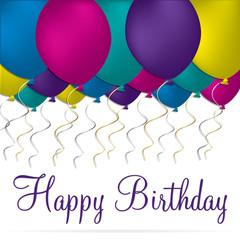 Happy Birthday card in vector format.