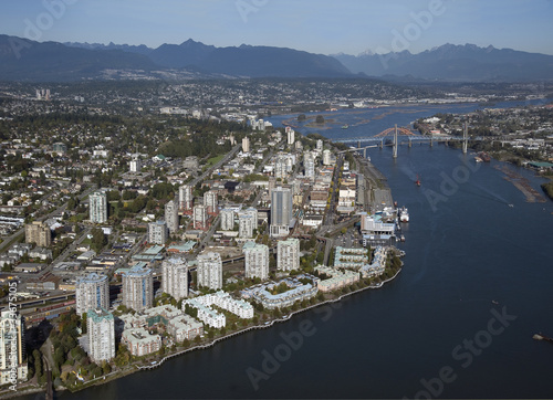 New Westminster, aerial view