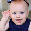 baby girl crying from ear ache - 33675563