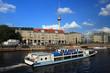 Typische Berliner Skyline mit Fernsehturm vom Ausflugsboot