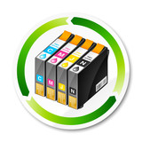 Fototapety cartouche encre recyclage - recycle inkjet cartridge