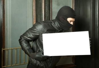nachricht vom einbrecher haustür