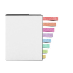 Blank White cover Book and Note pad recycled paper craft