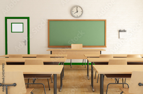 classroom without student