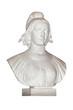 Buste de Marianne, fond blanc