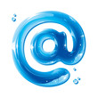 E-mail address alias - Water Liquid Letter - @