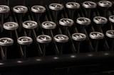 Old typewriter, deadline text poster