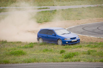 Crash car in a race