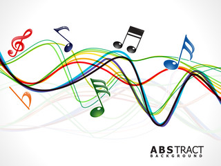 abstract colorful musical line wave