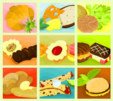 Picture of a various food - collage C