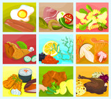 Picture of a various food - collage B