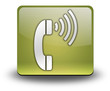 "Yellow 3D Effect Icon ""Telephone"""