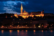 Budapest in night- Fisherman´s Bastion with Mathias church - 33686906