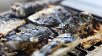 Fish on barbecue