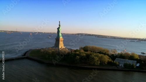 Aerial view Statue of Liberty,New York, North America