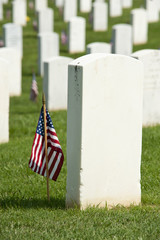 National Cemetery Tombstones Memorial Day